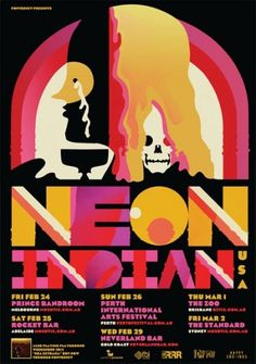 Neon Indian #prints #design #posters