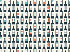 For the love of wine // Pattern #pattern #cityscape #icon #illustrator #icons #wine #label #illustration #vintage #poster #logo #love