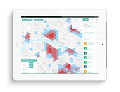Nouvelle carte interactive Econovista | Phileman Agence de communication et de design Nantes / Lorient #cluster #orientation #homepage #title #economy #ipad #infographic #design #graphic #presentation #map #wayfinding #tablet #region #illustration #signage