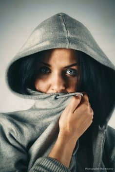 500px / Photo #photo #eyes #photograph #hoodie #female #women #portrait #lady