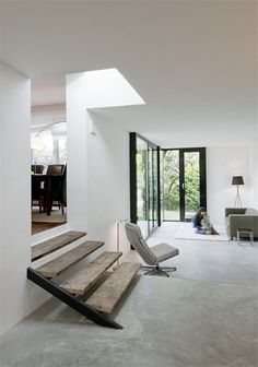 minimalistisch. #white #interior #home #concrete