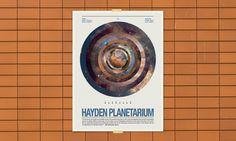 Hayden Planetarium #poster #space #astronomy #hayden planetarium #typeography