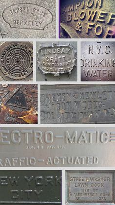 Lost Type Blog   This Type Means Business #lettering #ironworks #iron #cast #typography