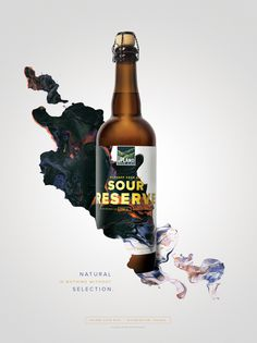 Upland Sour Ales: Sour Reserve #Upland #Sour #Beer #Bottle #Packaging #Cina #Poster