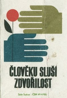 All sizes | Czechoslovakian matchbox label | Flickr - Photo Sharing! #design #graphic #texture #illustration #hands #flower