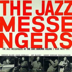 The Jazz Messengers album cover typography