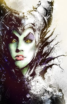 Maleficent by Shyree #illustration #maleficent #fanart