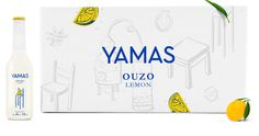 #yamas #greek #drink #packaging #label #silkscreen #illustration #surreal #sandblast #citrus #box