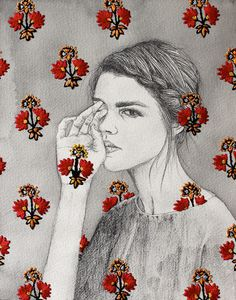 Embroidered drawings by artist Izziyana Suhaimi #illustration