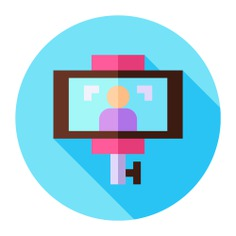 See more icon inspiration related to camera, stabilizer, selfie stick, selfie, cell phone, stick, electronics, mobile phone, device, smartphone, photography, tool and picture on Flaticon.