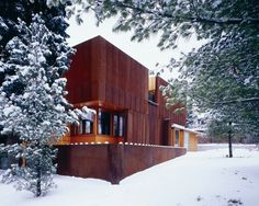 Weathering steel house « AEWORLDMAP.COM #corten #architecture #shimsutcliffe #modern