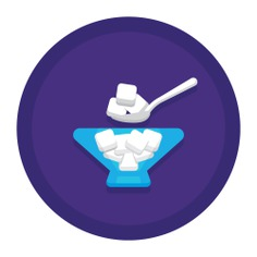 See more icon inspiration related to sugar, sugar cube, food and restaurant, sugar cubes, candy, cube and sweet on Flaticon.