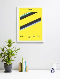 Senna poster by A.N.D. Studio