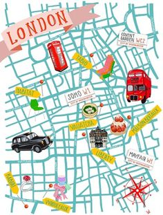 KRISATOMIC #london #illustration #map