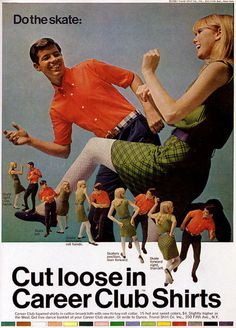 career club shirts cut loose #print #vintage #advertising