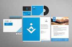 onestepcreative » Identity System for Dinabo Bedrift #stationary #business #branding #system #materials #identity
