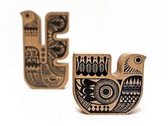 Sanna Annukka Shop - Soul Bird Sml- Light Oak #wood #screen #print #decoration #sanna #annukka #soul #bird