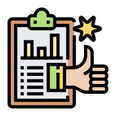 See more icon inspiration related to clipboard, report, star, like, rating, thumbs up, quality, marketing, graph and document on Flaticon.