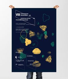 VIII Encuentro Andorra #affiche #universidad #university #orange #black #two #colors #poster #cartel #green