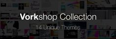 Vorkshop Collection - 14 Unique Portfolio Themes for WordPress #portfolio #design #based #website #grid #photography #minimal #art #wordpress