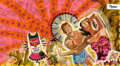 Ex novios | Peperina Magenta #creative #arte #amor #woman #color #pinup #digital #ilustraciã³n #vintage #ilustration #art #collage #colour #love #work