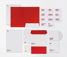 Red and White #typography #branding #red #spain #barcelona #letterhead #ruizcompany #camper