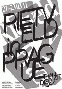 kýbl #rietveld #poster #prague