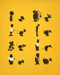 famous dogs pooping #cartoons #dogs #poster