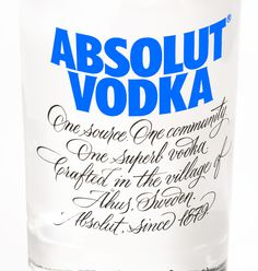 #Absolut #Packaging #bottle #calligraphy #LucaBarcellona #typography #handlettering