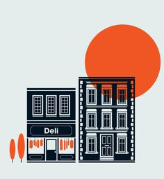 Financial Times robert samuel hanson #design #illustration #art #vector #building #sun #orange #badass