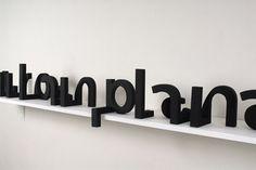 \'Urban Planar\', 3D typography