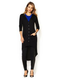Tart Kaley High Low Shirtdress #fashion #dress #black #shirt