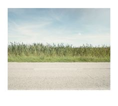 Road, grasses and sky #road #grasses #sky #motorway #verge #blue #minimal #rothko