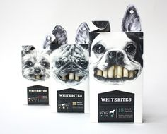 Whitebites Package Design #packaging design #pets