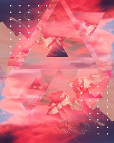 I LOVE YOUR EXISTENCE on the Behance Network #abstract #depth #graphic #landscape #triangle #mountains #art #light