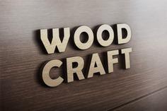 Wood craft logo mockup Free Psd. See more inspiration related to Logo, Mockup, Design, Wood, Logo design, Template, 3d, Mock up, Psd, Wooden, Craft, 3d logo, Logo template and Horizontal on Freepik.