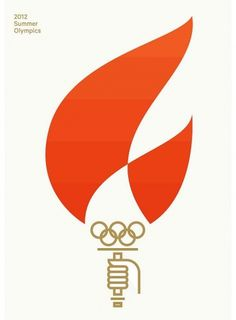 BrentCouchman.jpg 600×815 pixels #london #2012 #brent #couchman #geometric #illustration #summer #flame #olympics