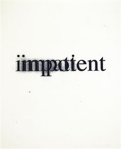 Christopher Wool and Richard Hell Impatient/Impotent (from Psychopts portfolio), 2008