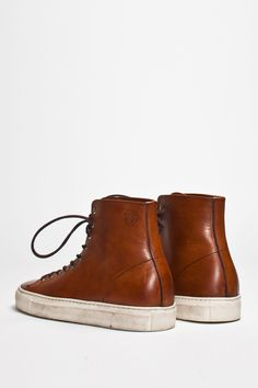 Buttero Tanino High Leather Brown | TRÈS BIEN #shoes #italian #sneakers #leather #buttero