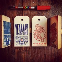 Hang tag by Yeaaah! Studio #stamp #lettering #brand #hand #typography