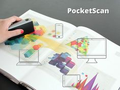 The PocketScan is an ingenious handheld device that scans anything on the fly with clean and sharp results #portable #modern #lifestyle #design #technology #product #industrial #scanner #style