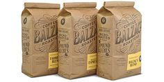 Balzacs Coffee - Sustainable Packaging Design #packaging #design #graphic #3d