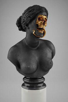 YIMMY'S YAYO™ #gold #sculpture #black