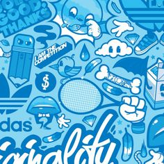 Adidas Originals: Celebrate Originality on the Behance Network #graffiti #illustration #sports