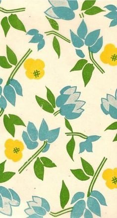 FLOWERS X FLOWERS #print #design #illustration #paper #midcentury #flowers