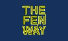 The Fenway Campaign on Typography Served #serif #sans #connected