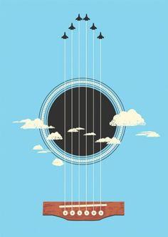Sky-Guitar-480x678.jpg (JPEG Image, 480×678 pixels) #illustration