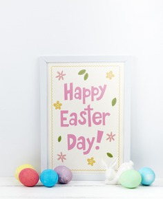 Happy easter day Free Psd. See more inspiration related to Flower, Mockup, Floral, Card, Template, Leaf, Typography, Spring, Leaves, Celebration, Happy, Font, Holiday, Mock up, Easter, Religion, Rabbit, Egg, Calligraphy, Lettering, Traditional, Greeting card, Bunny, Up, Day, Greeting, Cultural, Tradition, Mock, Seasonal and Paschal on Freepik.