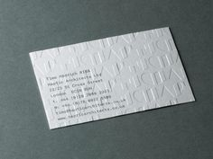 Haptic Architects Business Card #branding #business cards #stationery #architects