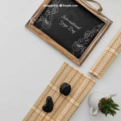 Chalkboard with bamboo cloths and plant Free Psd. See more inspiration related to Mockup, Spa, Health, Cute, Yoga, Text, Chalkboard, Mock up, Plant, Decoration, Drawing, Cactus, Bamboo, Healthy, Decorative, Peace, Mind, Balance, Draw, Relax, Pot, Meditation, Wellness, Healthy lifestyle, Lifestyle, Up, Tablecloth, Stones, Relaxation, Composition, Mock, Cloths, Peaceful and Inner on Freepik.